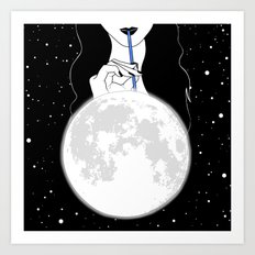 A drink of SuperMoonshine Art Print