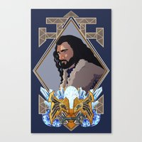 thorin Canvas Prints featuring Thorin  by Inkforwords