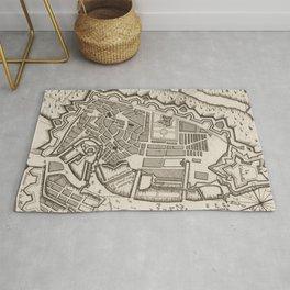 Vintage Map of Copenhagen Denmark (1764) Rug