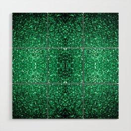 Beautiful Emerald Green glitter sparkles Wood Wall Art