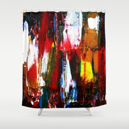 Coney Island (Part 2) acrylics on stretched canvas  Shower Curtain