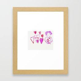 Valentine Girl Framed Art Print