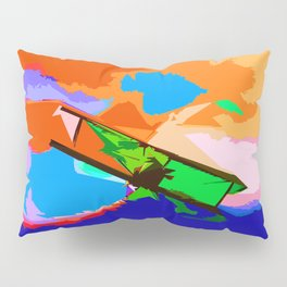 Biplane Aerobatics Pillow Sham