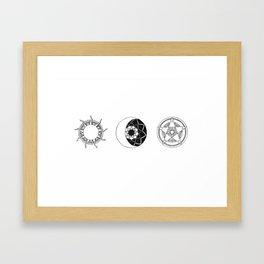 Sun Moon Star Mandalas Framed Art Print