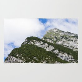Italian alps - Top of the mountain in the summertime Rug