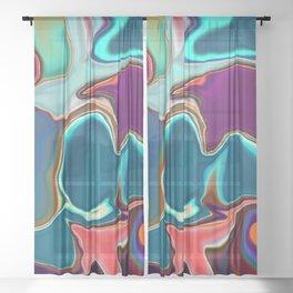 Liquid Color Sheer Curtain