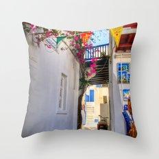 Greece Santorini Island Throw Pillow