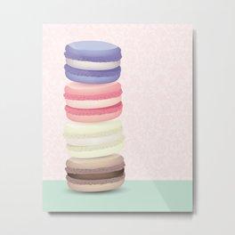 Macaron tower Metal Print