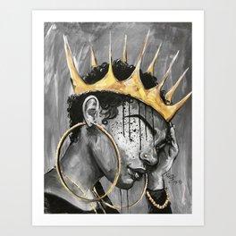 Naturally Queen X Art Print