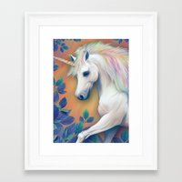 unicorn Framed Art Prints featuring Unicorn by ShannonPosedenti