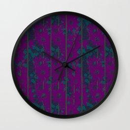 Magenta & Midnight By Danae Anastasiou Wall Clock