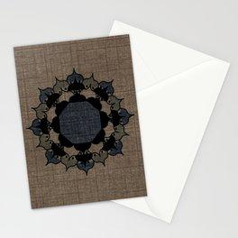 Lotus Mandala on Fabric Stationery Cards
