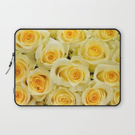 soft yellow roses close up Laptop Sleeve