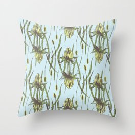 Stockholm Garden Flower Blooming Throw Pillow