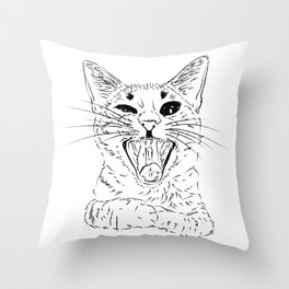 Don't stress meowt 2 Throw Pillow
