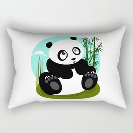 Baby Panda Rectangular Pillow