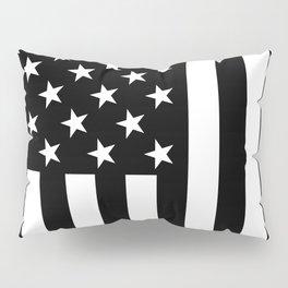 Black and White American Flag Pillow Sham
