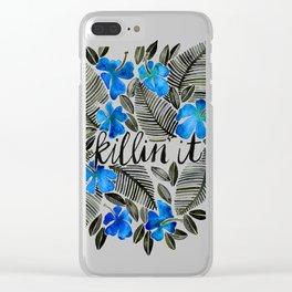 Killin' It – Tropical Blue Clear iPhone Case