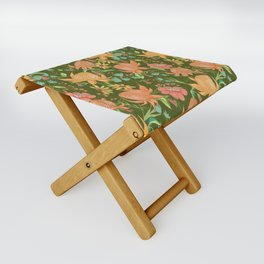 Australian Florals in Green Folding Stool