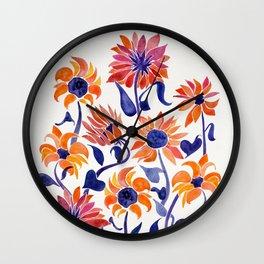 Sunflowers – Sunset Palette Wall Clock
