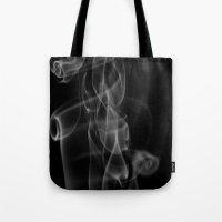 zappa Tote Bags featuring Smoke by Dora Birgis