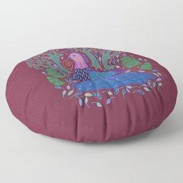 Bird Bath Floor Pillow