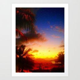 Caribbean Sunset, St. Maarten Art Print