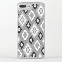 Diamond pattern - monochrome Clear iPhone Case