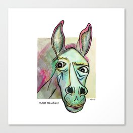 Pablo Pic-Ass-O Canvas Print