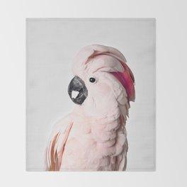 Pink Cockatoo Throw Blanket
