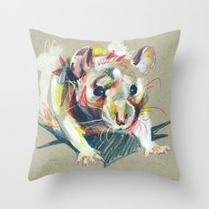 Baby rat Throw Pillow