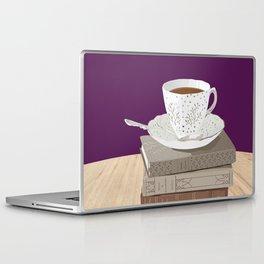 Teacup, Jane Austen, & Charlotte Brontë Books Laptop & iPad Skin