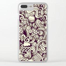 casino doodle Clear iPhone Case