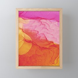 Abstract explosion Framed Mini Art Print