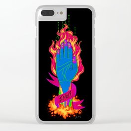 Magician's Hand Clear iPhone Case