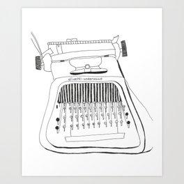 Olivetti-Underwood Art Print