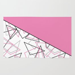 Abstract pink combo pattern . Rug
