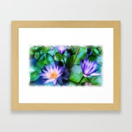 Purple Lotus Framed Art Print