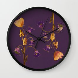 head to tail flowers Wall Clock