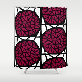 Trianglesquare Red Shower Curtain