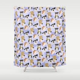 Jenna marbles dog design Shower Curtain