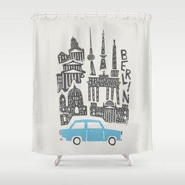 Berlin Cityscape Shower Curtain