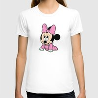 minnie mouse T-shirts featuring Cute baby Minnie Mouse by Yuliya L