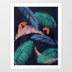 Palms in the Sand | Animals Art Print