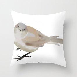 Sketchy Sparrow  Throw Pillow