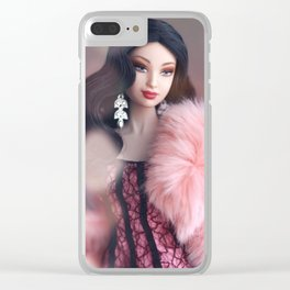 Pink Lady Clear iPhone Case