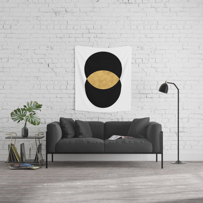 VESICA PISCES CIRCLE ABSTRACT GEOMETRIC SYMBOL Wall Tapestry