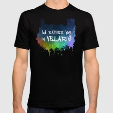 I'd Rather Be In Velaris MEDIUM Black Mens Fitted Tee