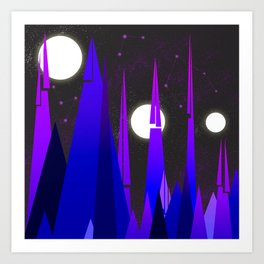 Strange Planets Surface Art Print