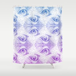 Staring Into Space Shower Curtain